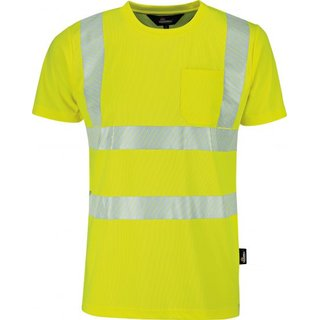 Warnschutz T-Shirt, 100% Polyester (Coolpass) 150 g/m²