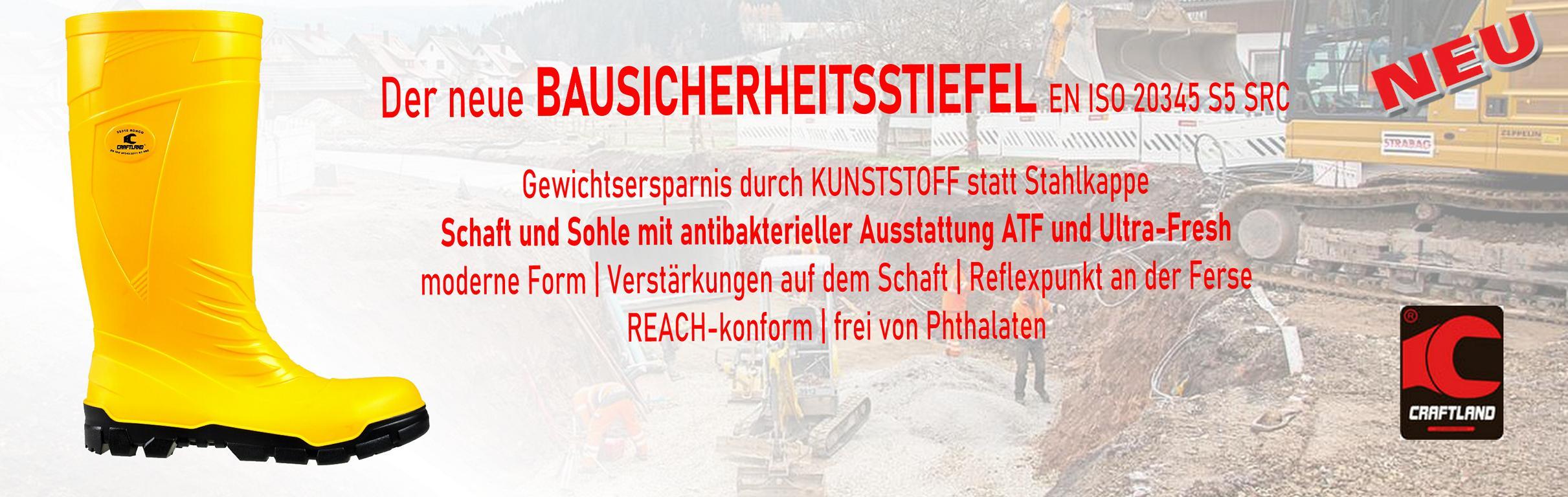 Bausicherheitsstiefel S5     ab €14,99