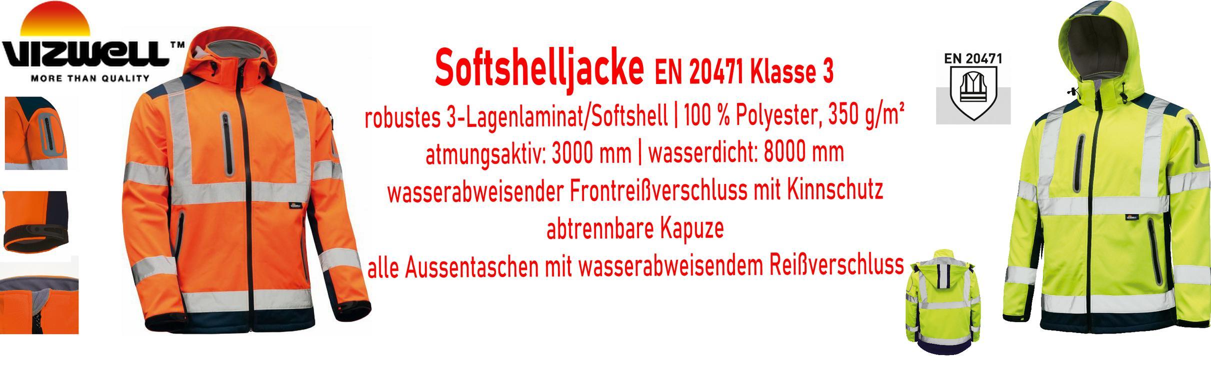 Warnschutz Softshelljacke      ab € 45,95