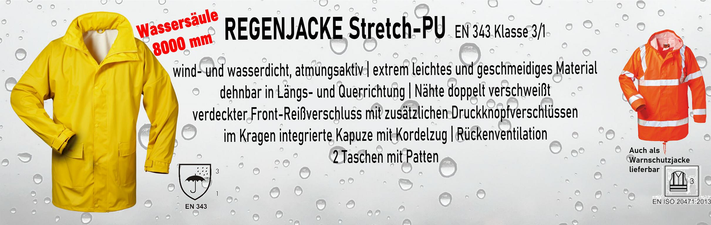 Regenjacken Stretch-PU    ab € 18,95